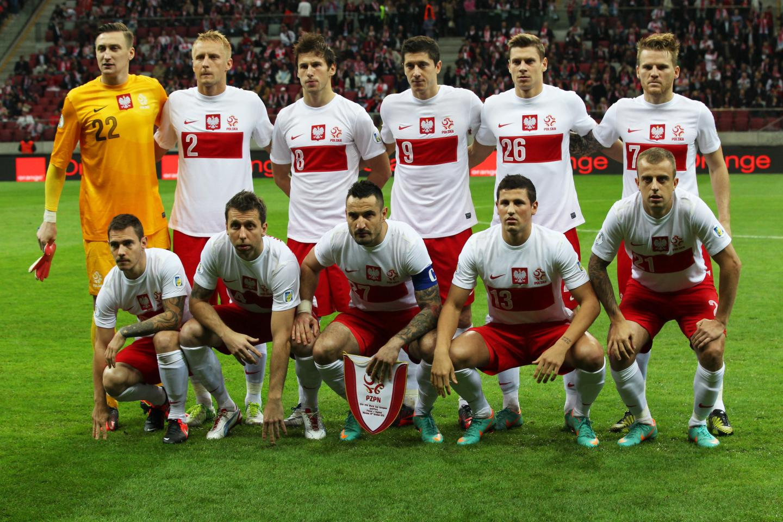 Reprezentacja Polski w meczu z Anglią.