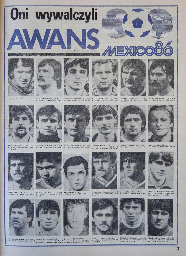Okładka piłki nożnej po meczu Polska - Belgia (11.09.1985)