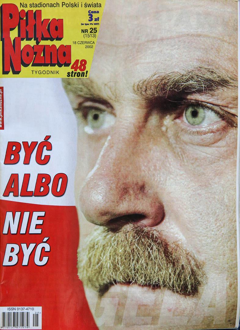 Okładka piłki nożnej po meczu Polska - USA (14.06.2002)