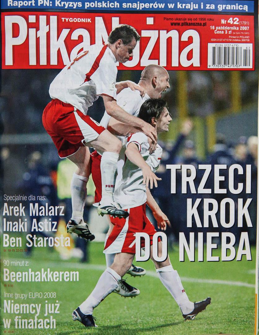 Okładka piłki nożnej po meczu Polska - Kazachstan (13.10.2007)