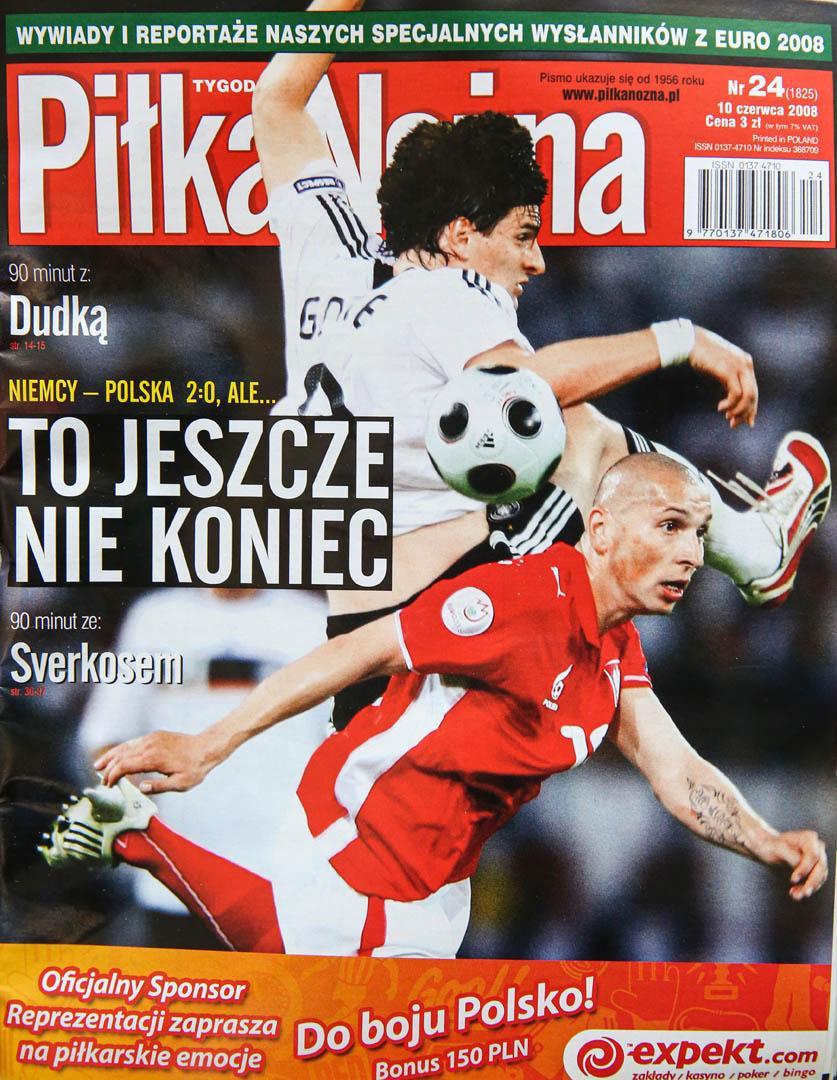 Okładka piłki nożnej po meczu niemcy - polska (08.06.2008)