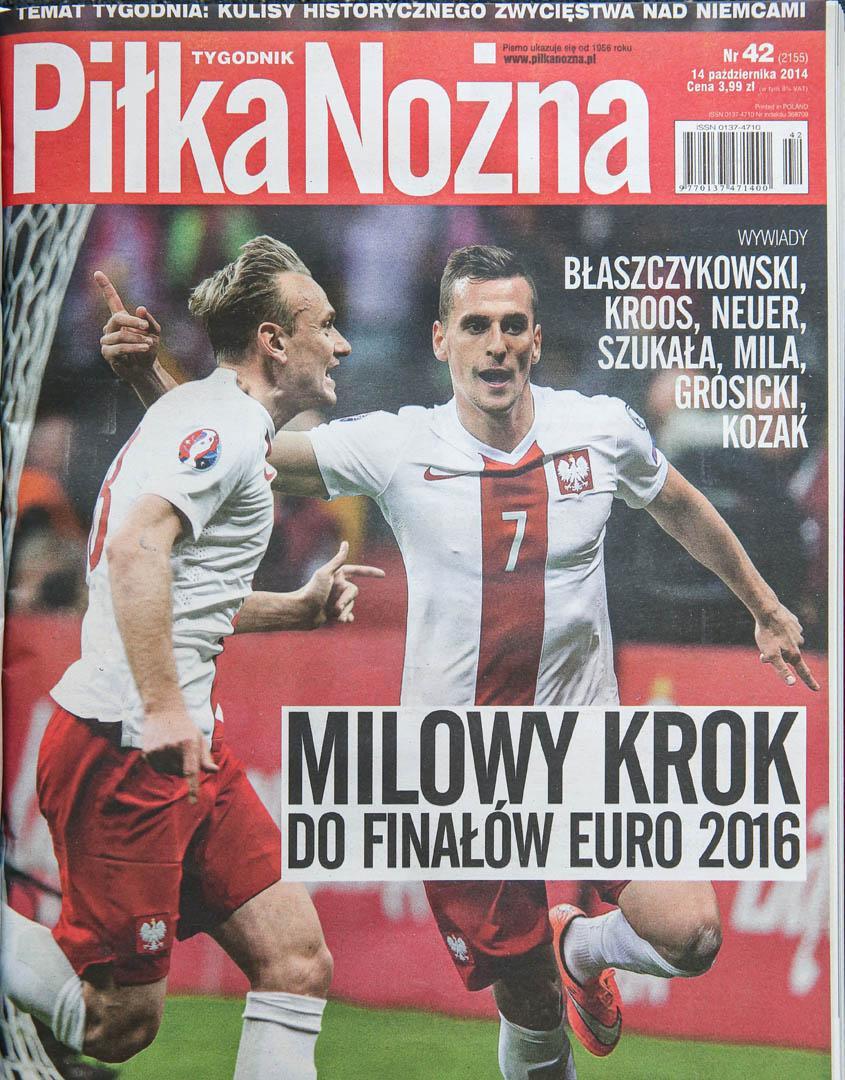Okładka piłki nożnej po meczu polska - niemcy (11.10.2014)