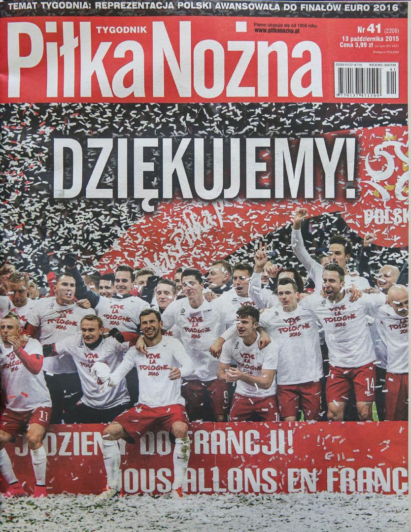 Okładka piłki nożnej po meczu Polska - Irlandia (11.10.2015)