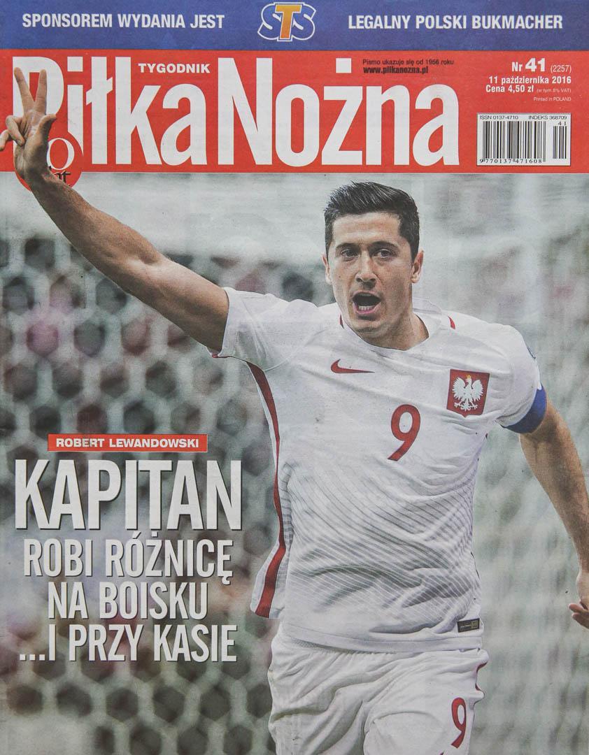 Okładka piłki nożnej po meczu Polska - Dania (08.10.2016)