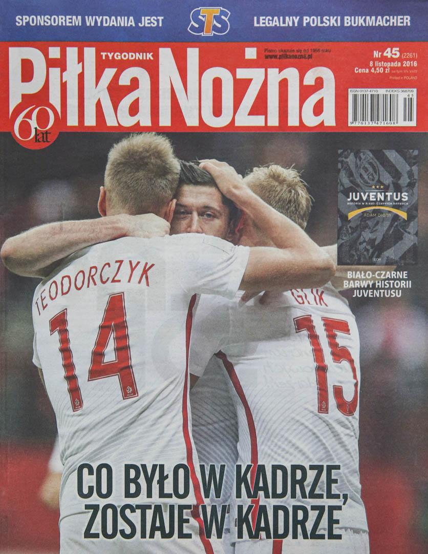Okładka piłki nożnej po meczu Polska - Armenia (11.10.2016)