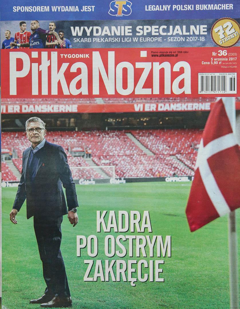 Okładka piłki nożnej po meczu Dania - Polska (01.09.2017)