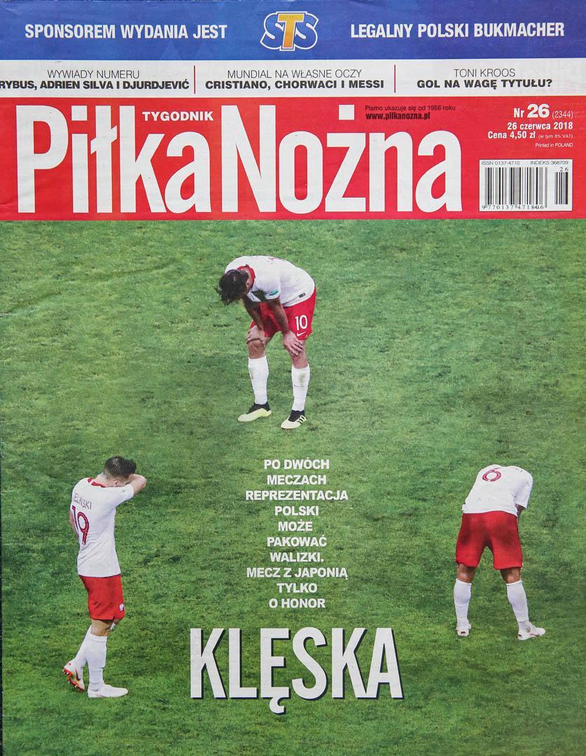 Okładka piłki nożnej po meczu Polska - Kolumbia (24.06.2018)