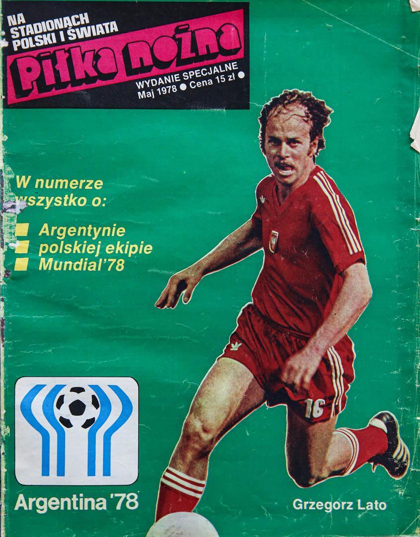 Okładka piłki nożnej - wydanie specjalne przed mś w Argentynie 1978