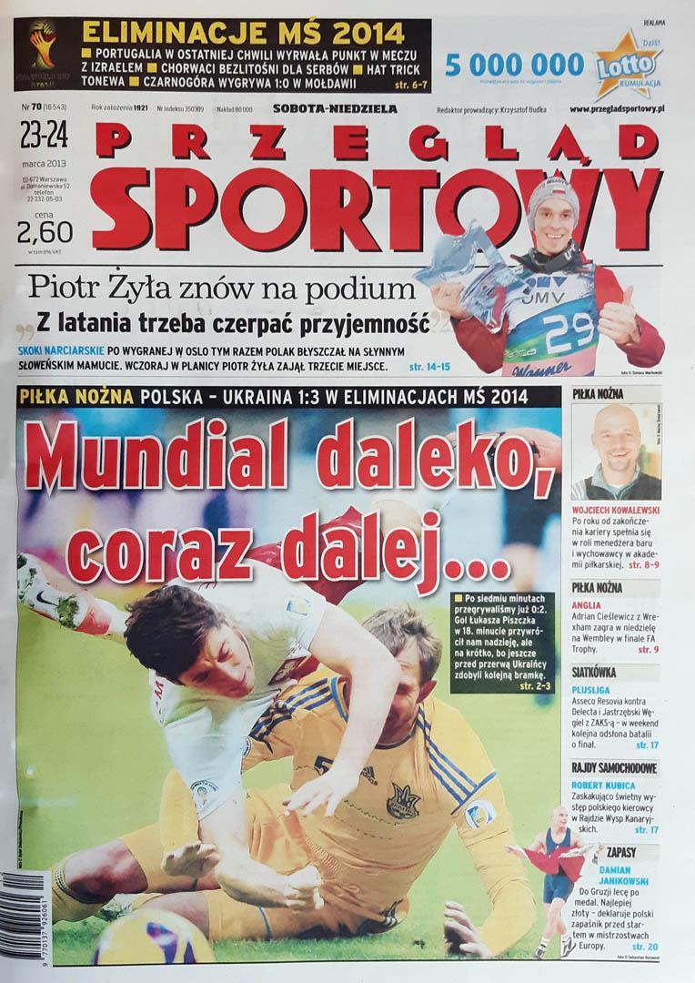 Okładka przeglądu sportowego po meczu Polska - Ukraina (22.03.2013)