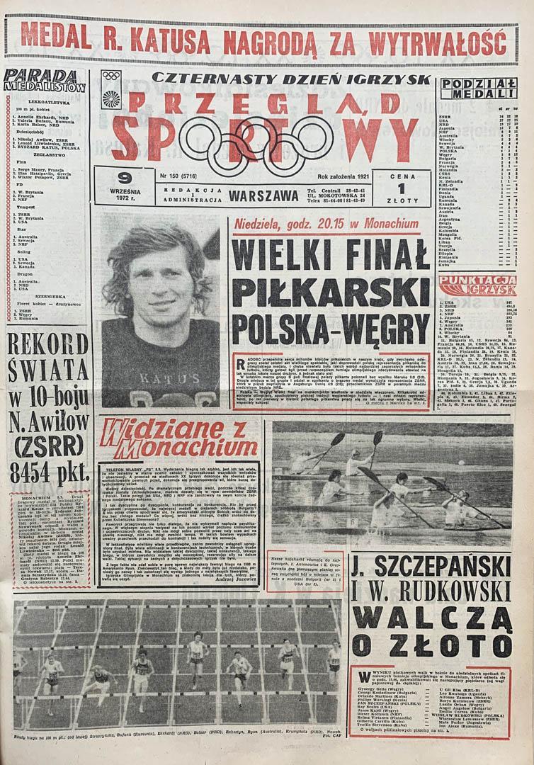 Przegląd Sportowy przed meczem z Węgrami (10.09.1972)