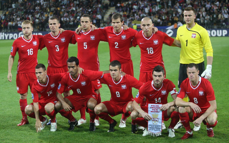 Reprezentacja Polski przed meczem ze Słowenią w Mariborze.