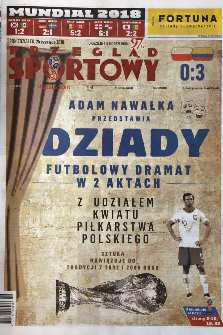 Okładka przeglądu sportowego po meczu Polska - Kolumbia (24.06.2018)