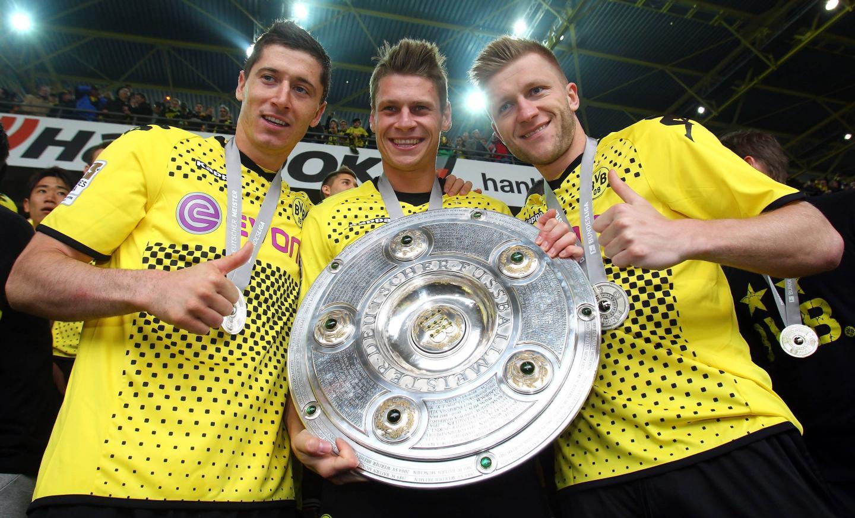 Polacy świętują mistrzostwo Niemiec.
