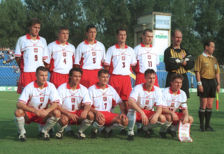 Reprezentacja Polski przed meczem z Izraelem.