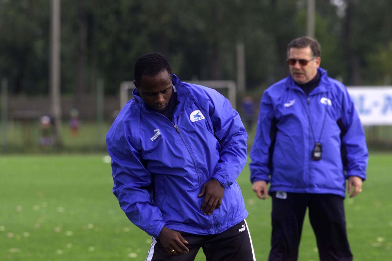 Emmanuel Olisadebe i Jerzy Engel.