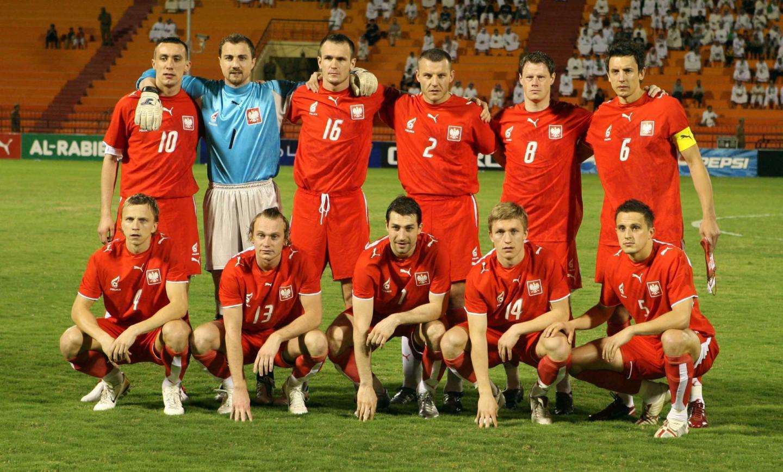 Reprezentacja Polski przed meczem z Arabią Saudyjską.