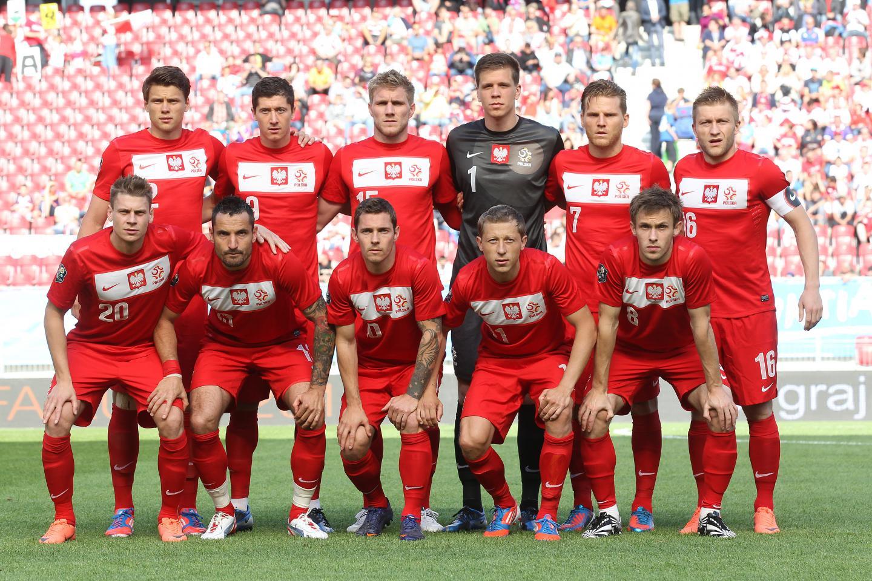 Reprezentacja Polski przed meczem ze Słowacją w Klagenfurcie.