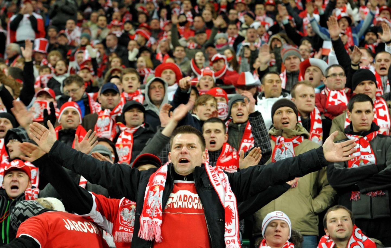 Polscy kibice podczas meczu Polska - Włochy.