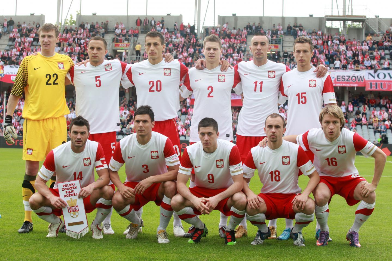 Reprezentacja Polski przed meczem z Finlandią w 2010 roku.