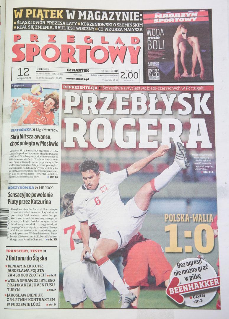 Okładka przeglądu sportowego po meczu Polska - Walia (11.02.2009)