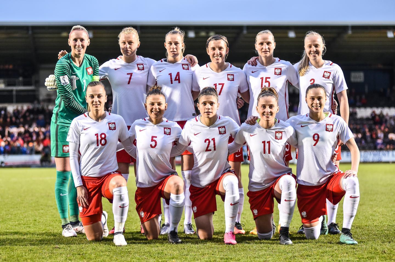 Reprezentacja Polski przed meczem ze Szkocją w Paisley.