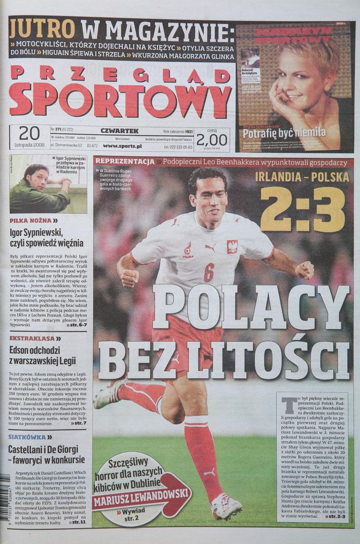 Irlandia - Polska (19.11.2008)