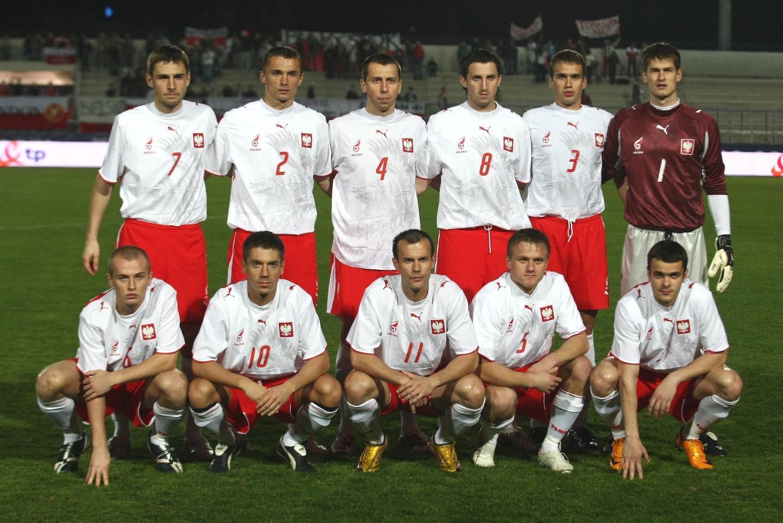 Zdjęcie grupowe reprezentacji Polski przed towarzyskim meczem z Finlandią (1:0) na Cyprze 2 lutego 2008 roku.