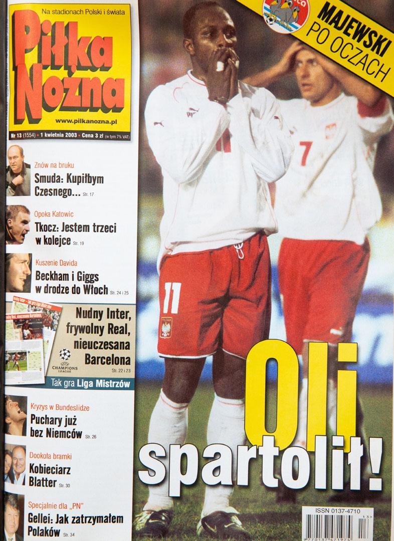 Okładka piłki nożnej po meczu polska - węgry (29.03.2003)