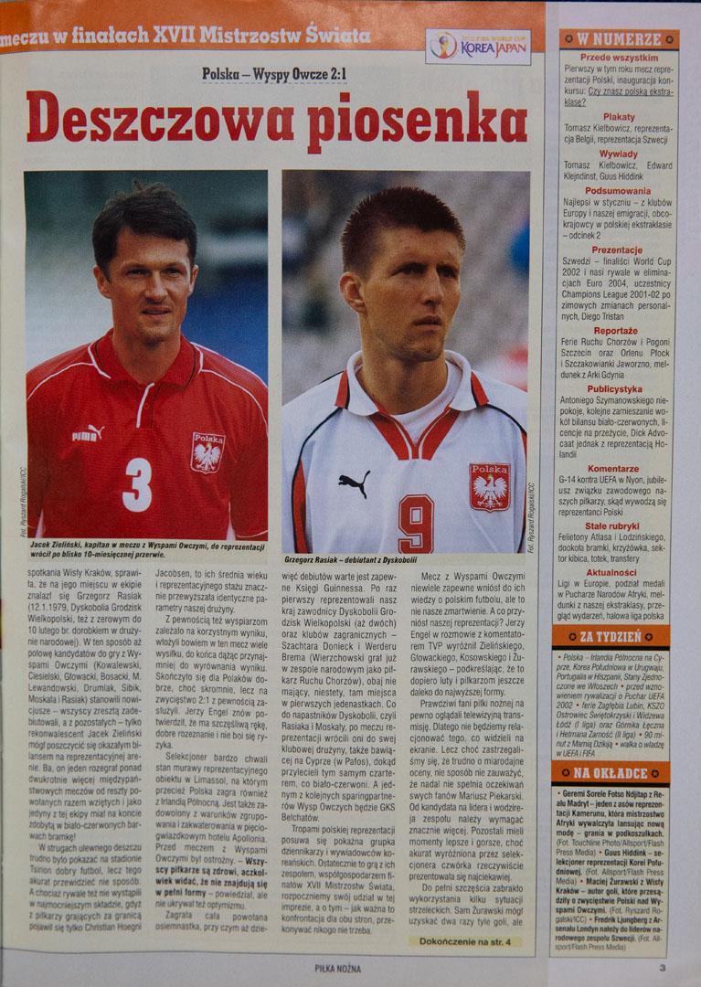 Piłka nożna po meczu Polska - Wyspy Owcze (10.02.2002)