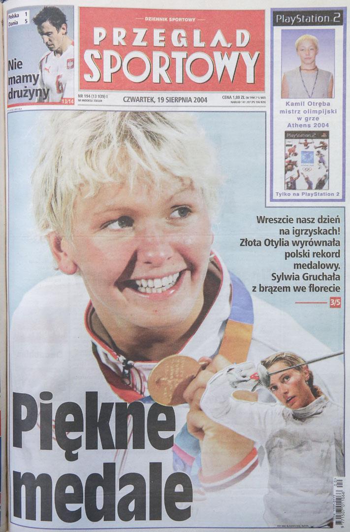 Okładka przeglądu po meczu polska - dania (18.08.2004)