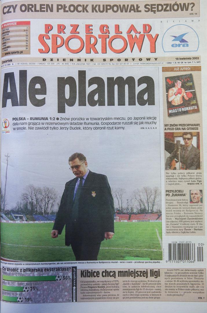 Przegląd sportowy po meczu Polska - Rumunia (17.04.2002)