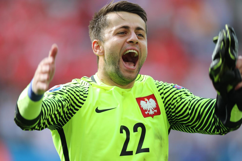 Łukasz Fabiański po wygranym meczu ze Szwajcarią na Euro 2016.