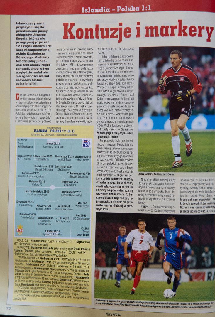 Islandia - Polska 1:1 (15.08.2001) Piłka nożna