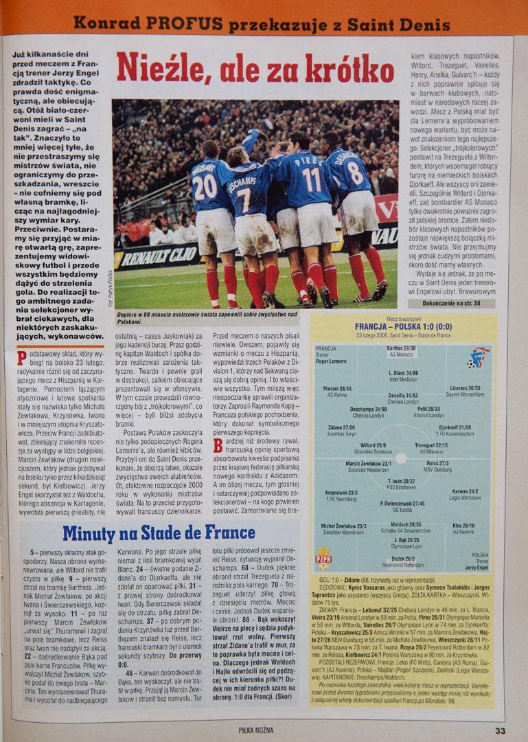 Artykuł z tygodnika Piłka nożna
