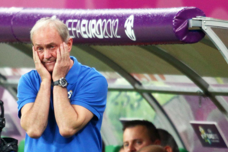 Franciszek Smuda po meczu Czechy - Polska 1:0 na Euro 2012.
