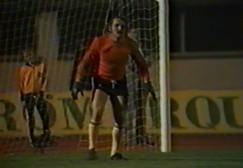 Zygmunt Kukla podczas meczu Austria - Polska 2:1 (24.08.1977).