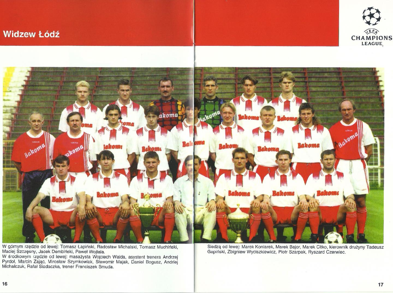 Widzew Łódź - Borussia Dortmund 2:2 (20.11.1996) Program meczowy