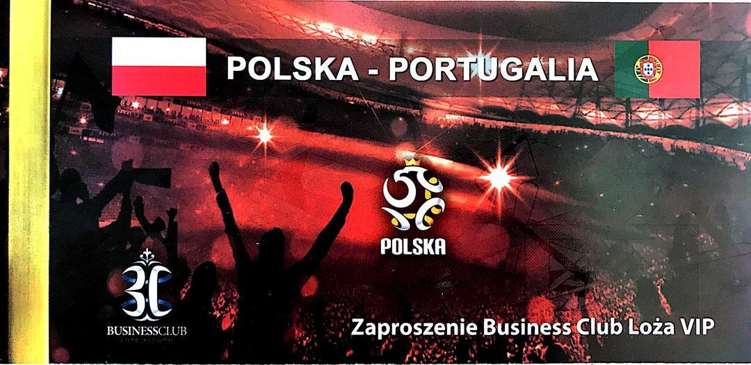 Bilet z meczu Polska - Portugalia (29.02.2012)