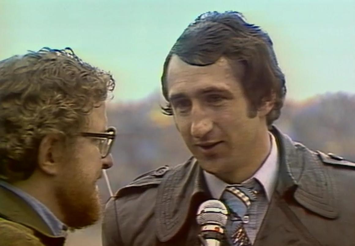 Czesław Boguszewicz w rozmowie z reporterem TVP Markiem Kańskim.