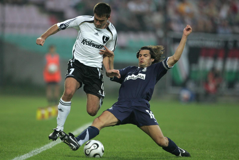 Grzegorz Bronowicki podczas meczu Legia Warszawa - Austria Wiedeń 1:1 (14.09.2006).