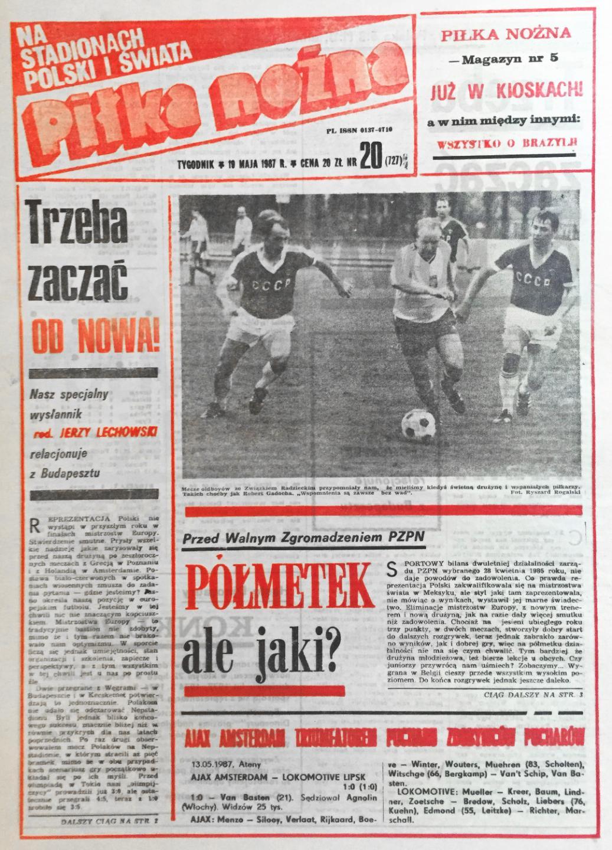 Piłka nożna po meczu Węgry - Polska  (17.05.1987)