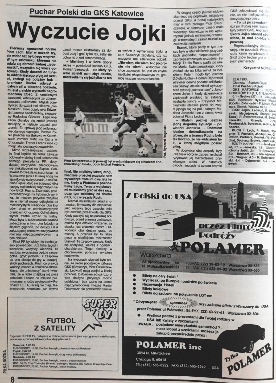 piłka nożna po meczu gks katowice - ruch chorzów (23.06.1993)