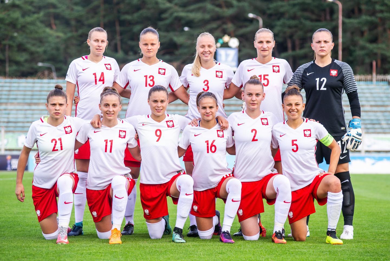 Reprezentacja Polski przed meczem z Białorusią w Mińsku.