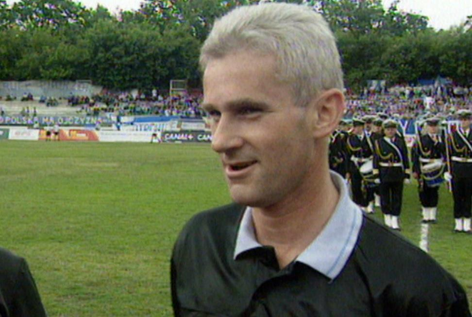Michał Listkiewicz przed meczem Ruch Chorzów - GKS Bełchatów 1:0 (16.06.1996)