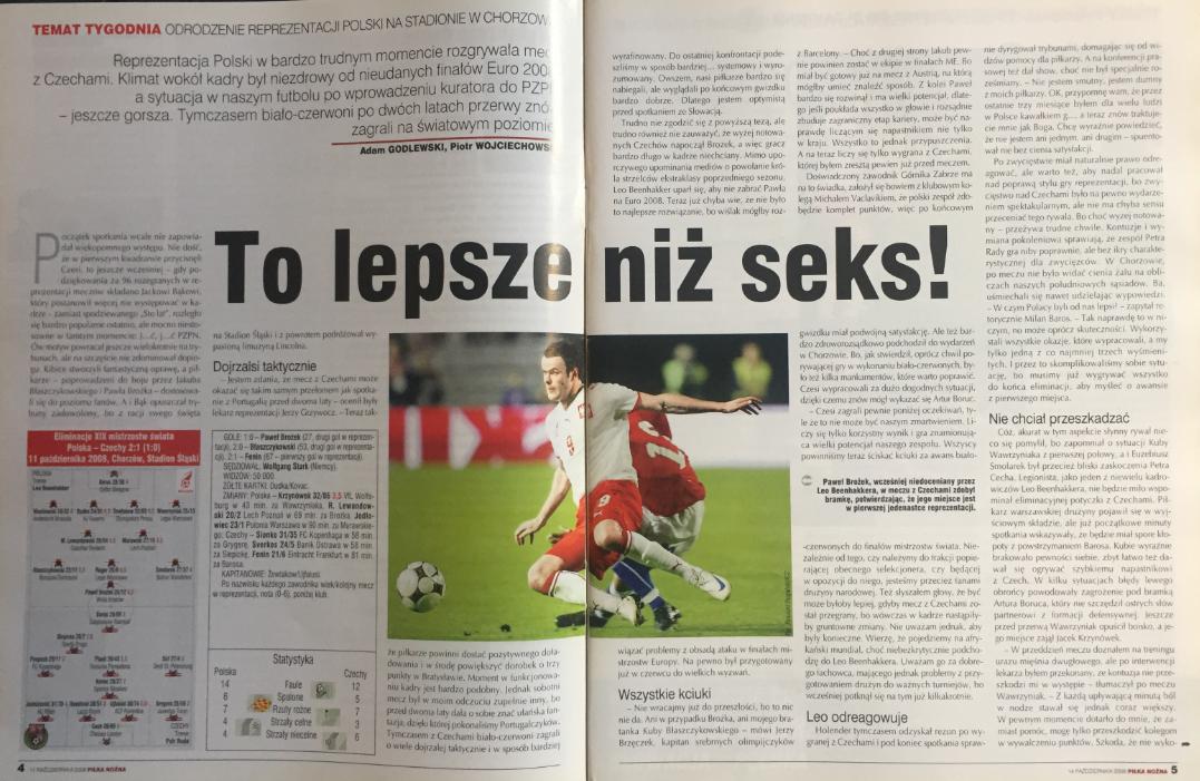 piłka nozna po meczu polska -czechy (11.10.2008)