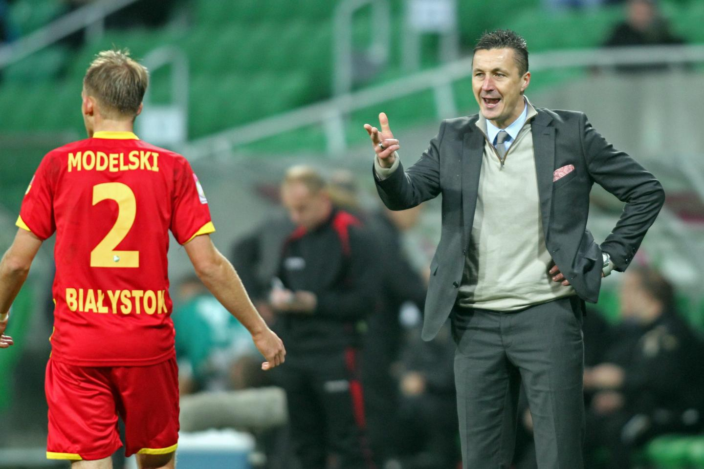 Tomasz Hajto jako trener Jagiellonii Białystok.
