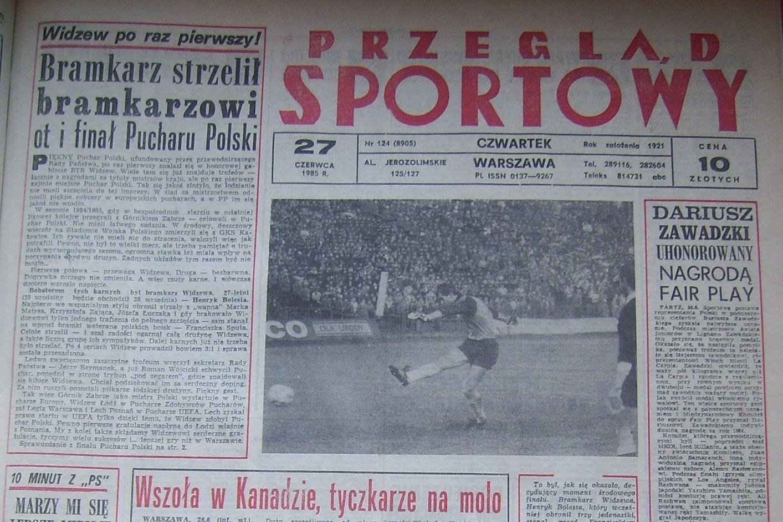 Widzew Łódź - GKS Katowice 0:0, k. 3:1 (26.06.1985) Przegląd Sportowy