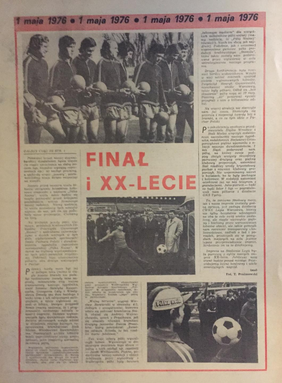 Piłka Nożna po Śląsk - Stal M. 2:0 (01.05.1976) 3