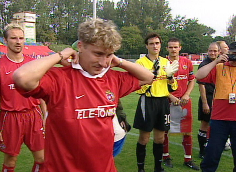 Tomasz Kulawik, pożegnanie przed meczem Wisła Kraków - Glentoran FC 4:0 (29.08.2002).
