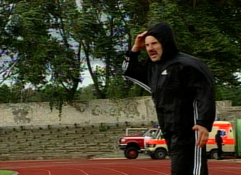 Vacys Lekevičius podczas meczu Atlantas Kłajpeda - Groclin Dyskobolia Grodzisk Wlkp. 1:4 (27.08.2003)
